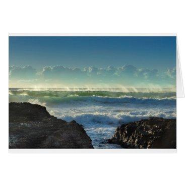 Beach Themed Beach Waves Card