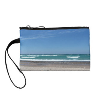 Beach Waves change purse
