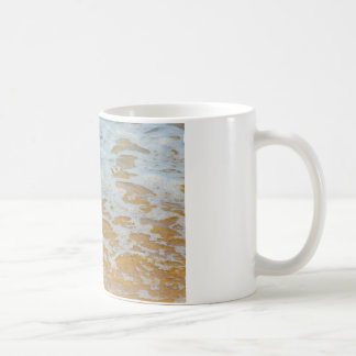 Beach Waves Foam, Nature Photography Coffee Mug
