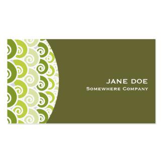 Beach Waves Green Business Card