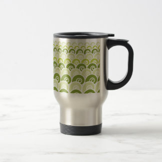 Beach Waves Green 15 Oz Stainless Steel Travel Mug