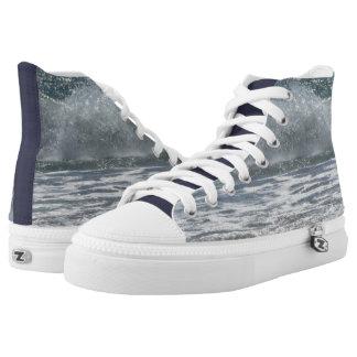 Beach Waves High-Top Sneakers
