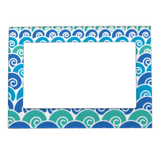 Beach Waves Magnetic Frame