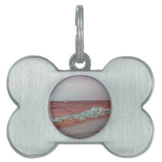 beach waves red teal florida seashore background pet tags