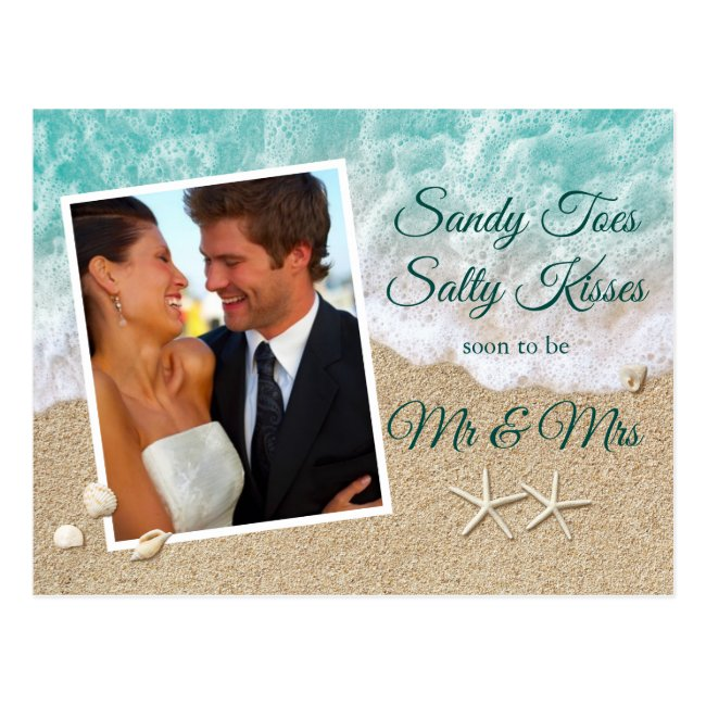 Beach Waves Sandy Toes Salty Kisses Photo Postcard