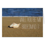Beach Waves Seashell Will You Be My Bridesmaid Stationery Note Card