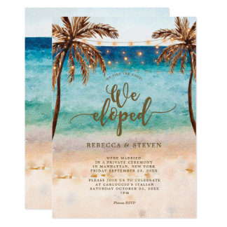 beach we tied the knot we eloped invitation