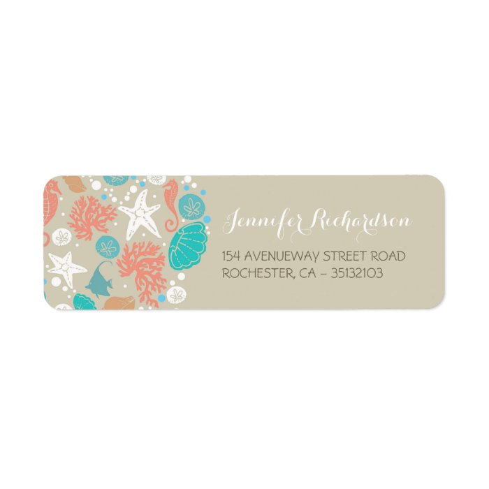 beach wedding address labels zazzle With beach wedding address labels