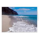 Beach Wedding Backdrop Greeting Cards