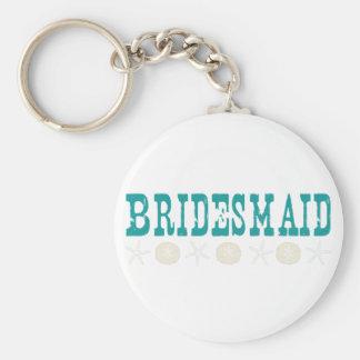Beach Wedding Basic Round Button Keychain