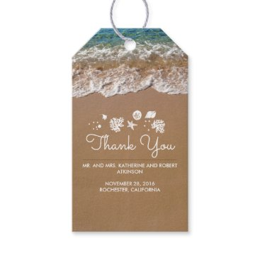 Beach Themed Beach Wedding Blue Sea and Sand Tropical Gift Tags