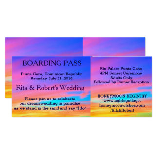 Beach Wedding | Boarding Pass Ticket-Destination Card