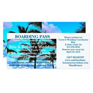 Beach Wedding | Boarding Pass Ticket-Destination Card