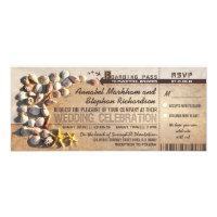 beach wedding boarding pass tickets - invitations (<em>$2.57</em>)