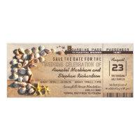 beach wedding boarding pass tickets save the date card (<em>$2.52</em>)