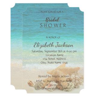 Beach Wedding  Bridal Shower Card