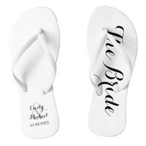 Beach Wedding Bride Flip Flops