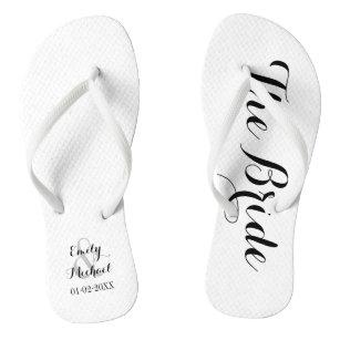 ca2dd03f35d7 Beach Wedding Bride Flip Flops