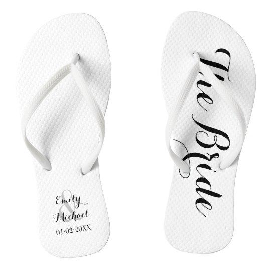7fa831eb030c4 Beach Wedding Bride Flip Flops