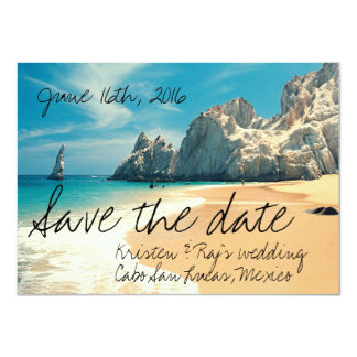 Beach Wedding Cabo San Lucas, Mexico Save the Date Card