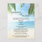Beach Wedding Cancellation Announcement Postcards