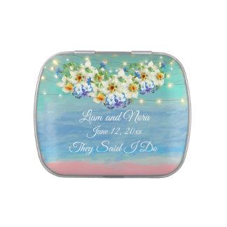 Beach Wedding Candy Tin
