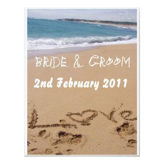Beach Wedding Card