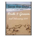 Beach Wedding - Change colour to suit your theme! Custom Invites