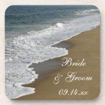 Beach Wedding Coaster