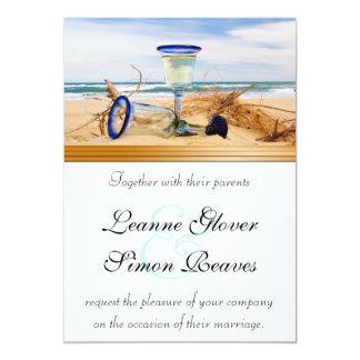 Beach Wedding Collection 5x7 Paper Invitation Card