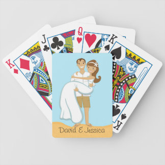 Beach Wedding Couple Playing Cards Bicycle Playing Cards