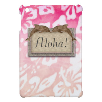 Beach Wedding Dolphin Luau Party Nautical Aloha iPad Mini Cover