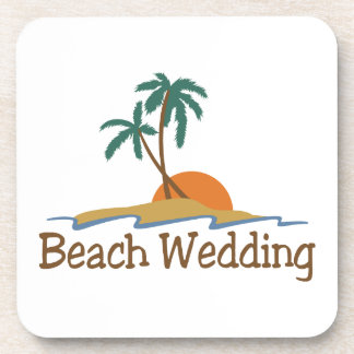 Beach Wedding Drink Coaster