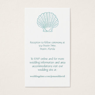 Beach Wedding enclosure cards