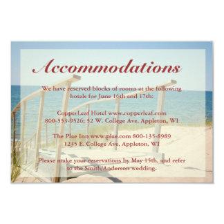Beach Wedding Enclosure Cards - Beach Staircase Invitations