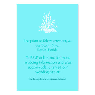 Beach Wedding enclosure cards Large Business Cards (Pack Of 100)