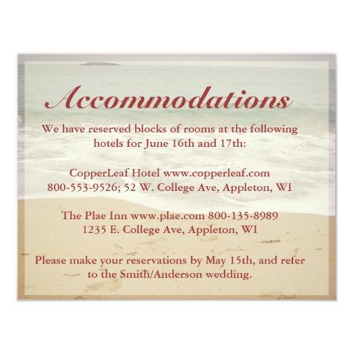 Beach Wedding Enclosure Cards - Rocky Beach