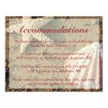 "Beach Wedding Enclosure Cards - Starfish & Shell 4.25"" X 5.5"" Invitation Card"