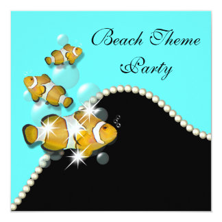 Beach wedding engagement anniversary PERSONALIZE 5.25x5.25 Square Paper Invitation Card