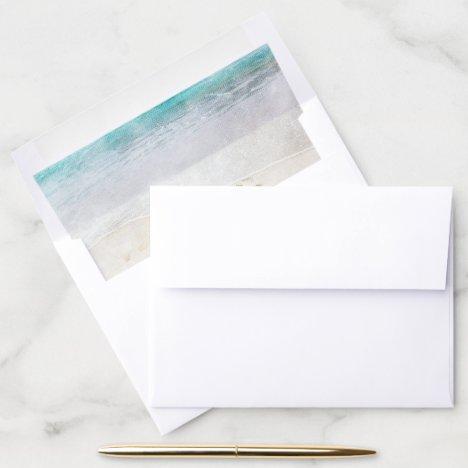Beach Wedding Envelope liner