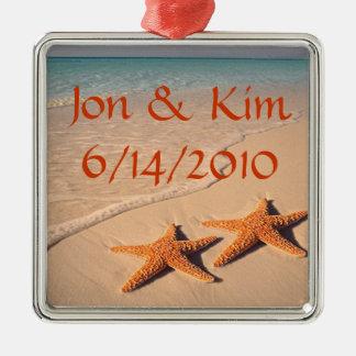 Beach Wedding Favor Ornament Gift