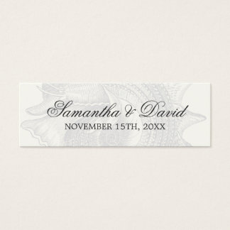 Beach Wedding Favor Tag Mollusk Shell Black