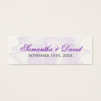 Beach Wedding Favor Tag Mollusk Shell Purple