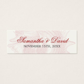 Beach Wedding Favor Tag Mollusk Shell Red