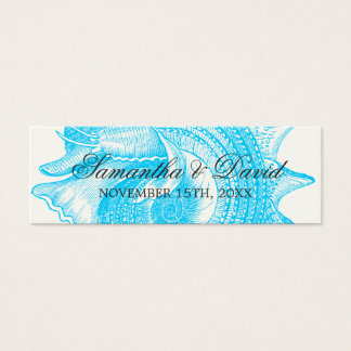 Beach Wedding Favor Tag Mollusk Shell Turquoise