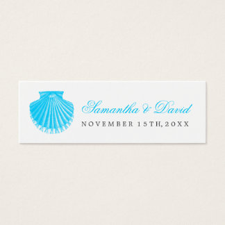 Beach Wedding Favor Tag Scallop Shell Turquoise