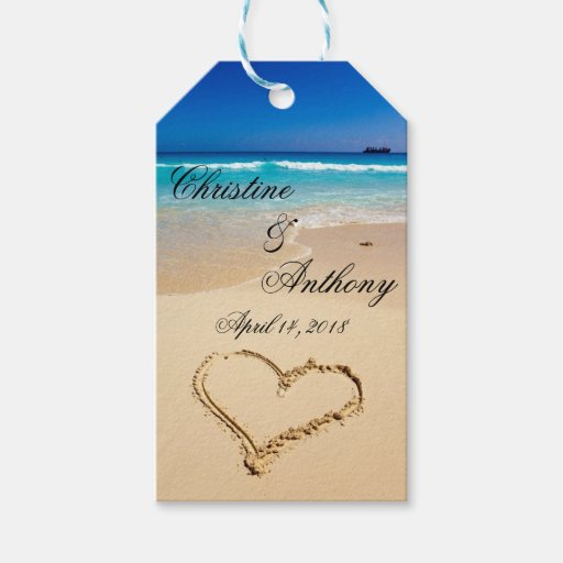 Wedding Gift Tags : Beach Wedding Favor Tags Pack of Gift Tags Zazzle