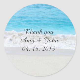 Beach wedding favor tags save the date beach1