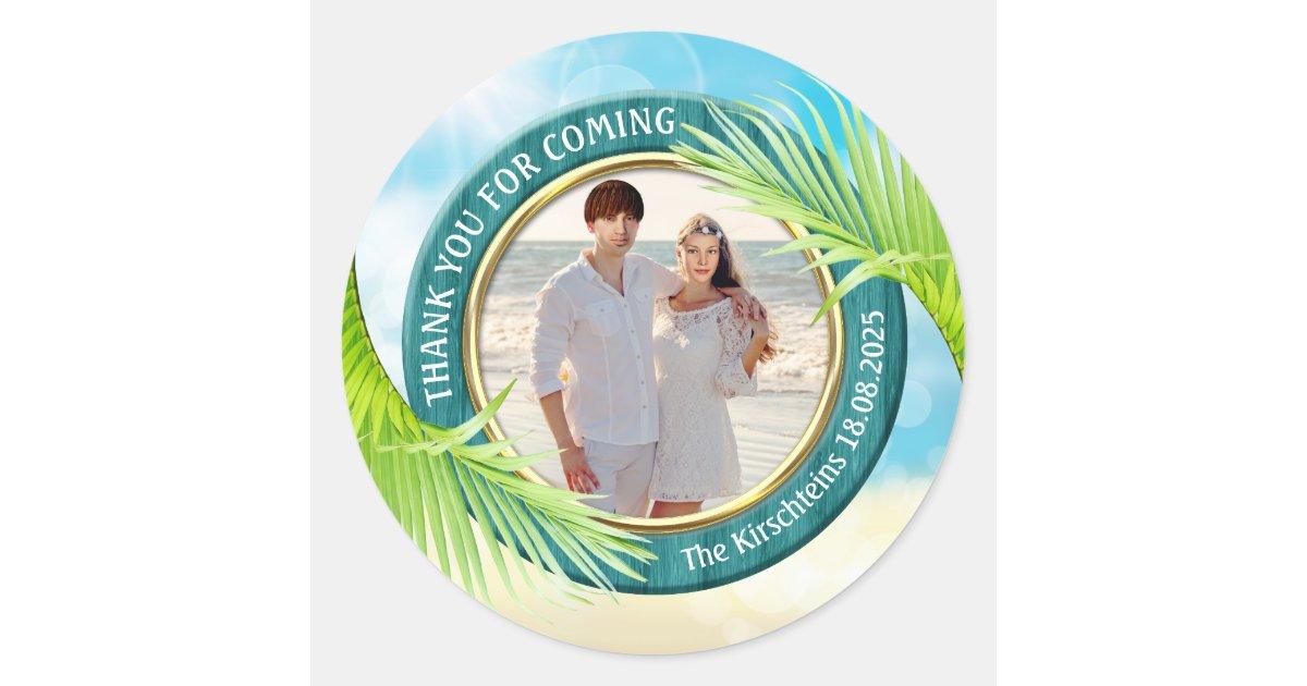 Sea Personalized Tropical Beach Wedding Stickers Wedding Favor Stickers Holiday Wedding Labels Beach Destination Wedding Favours