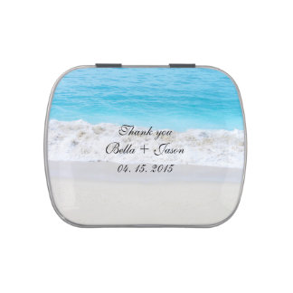 Beach wedding favors beach1 jelly belly candy tins